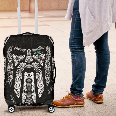 1stIceland Viking Luggage Covers, Odin's Eye with Raven K4