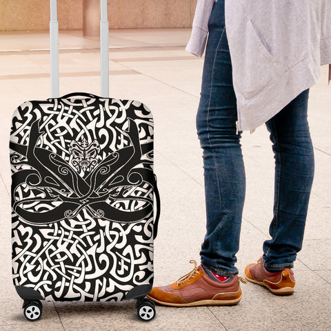 1stIceland Celtic Luggage Covers, Celtics Dragon Tattoo Th00 - White - 1st Iceland