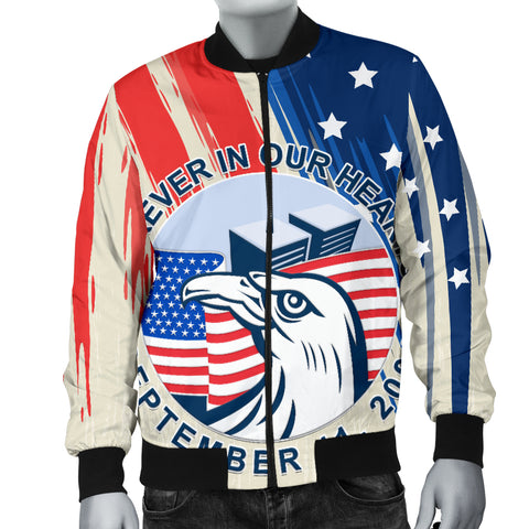 Image of 1stIceland American Firefighters Sacrifice 9.11.01 Men Bomber Jacket K8 - 1st Iceland