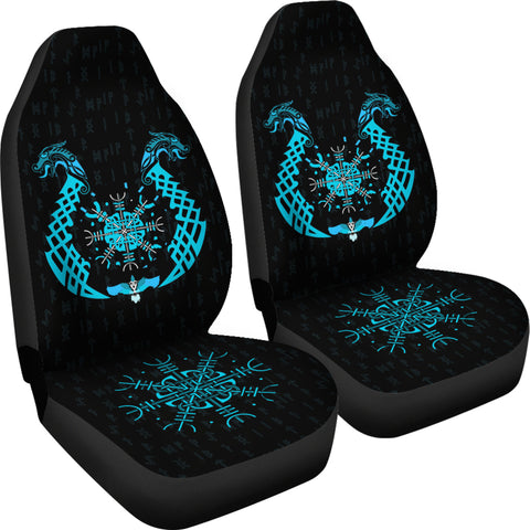 Image of 1stIceland Viking Car Seat Covers, Helm Of Terror Helm Of Awe A12 - 1st Iceland