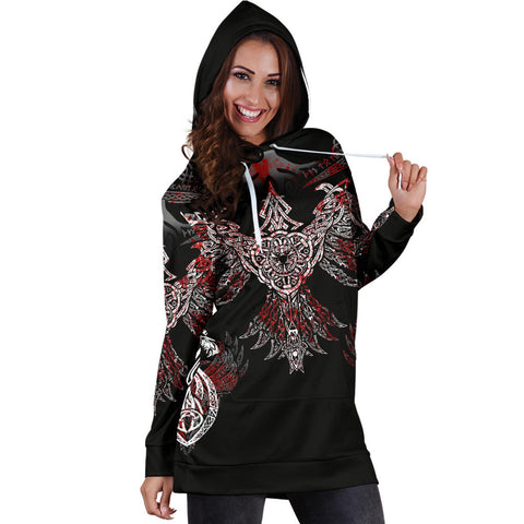 1stIceland Viking Women's Hoodie Dress, Raven Th00 - 1st Iceland