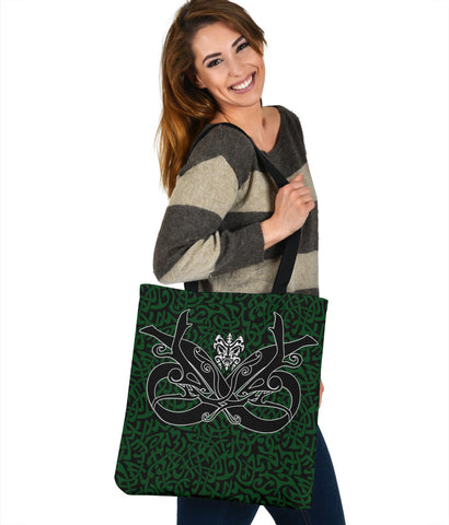 1stIceland Celtic Tote Bag, Celtics Dragon Tattoo Th00 - Green - 1st Iceland