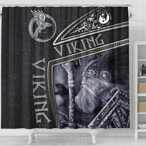 Image of 1st Iceland Viking God Metal Shower Curtain TH12 - 1st Iceland