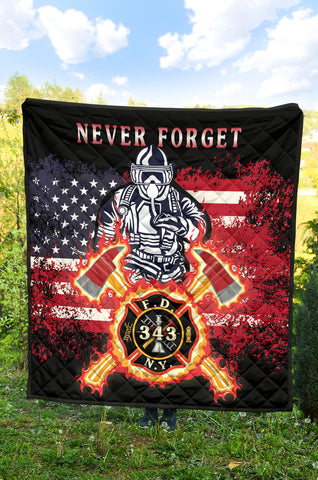 1stIceland American Firefighters Premium Quilt 9.11.01 Memorial K8 - 1st Iceland