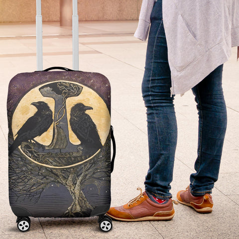 Image of 1stIceland Viking Luggage Covers, Raven And Tree Of Life K5 - 1st Iceland