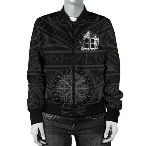 Image of 1stIceland Viking Bomber Jacket, Helm Of Awe Iceland Coat Of Arms K4 - 1st Iceland
