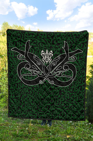 1stIceland Celtic Premium Quilt, Celtics Dragon Tattoo Th00 - Green - 1st Iceland