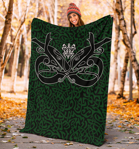 1stIceland Celtic Premium Blanket, Celtics Dragon Tattoo Th00 - Green - 1st Iceland