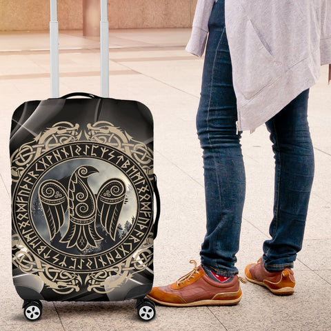 1stIceland Viking Luggage Cover, Odin's Raven Rune Circle A2 - 1st Iceland