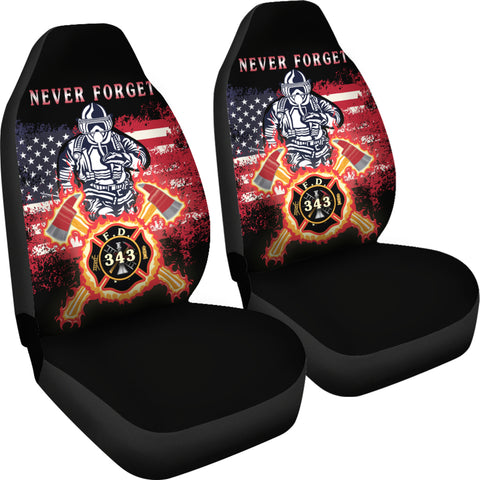 Image of 1stIceland American Firefighters Car Seat Covers 9.11.01 Memorial K8 - 1st Iceland