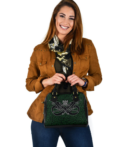 1stIceland Celtic Shoulder Handbag, Celtics Dragon Tattoo Th00 - Green - 1st Iceland