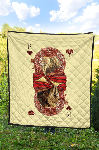 1st Iceland King Hearts Lion Poker Premium Quilt TH12 - 1st Iceland