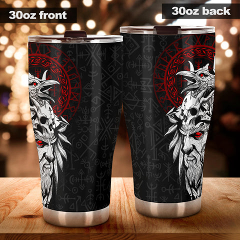 Image of 1stIceland Viking Odin And Raven Tumbler TH12 - 1st Iceland