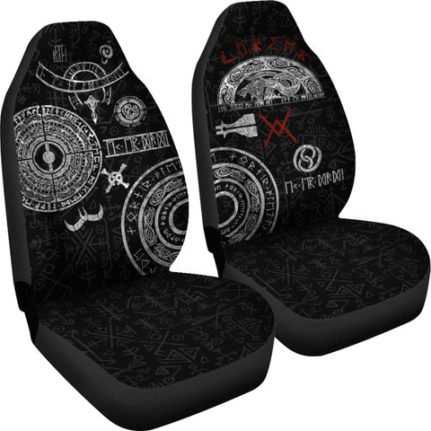 Image of 1stIceland Viking Car Seat Covers, Baldur Norse Mythology Tattoo K4 - 1st Iceland