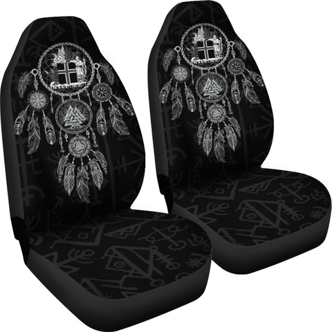 Image of 1stIceland Viking Car Seat Covers, Dreamcatcher Iceland Coat Of Arms K4 - 1st Iceland