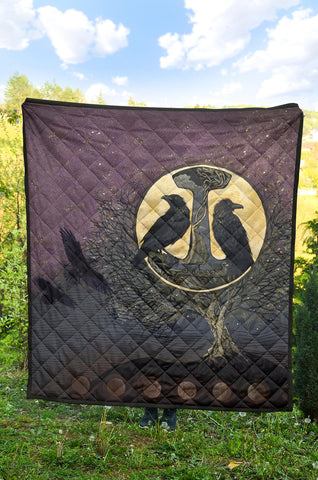 1stIceland Viking Premium Quilt, Raven And Tree Of Life K5 - 1st Iceland
