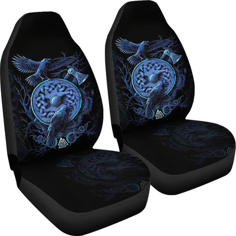 1stIceland Viking Car Seat Covers, Odin's Raven Shield Axe Th5