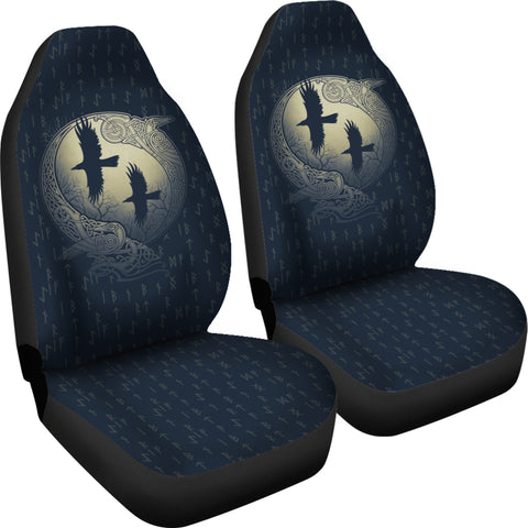 1stIceland Viking Car Seat Covers, Odin's Eye Ravens Runes NN82 - 1st Iceland
