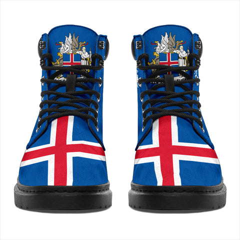 Image of 1stIceland Boots, Iceland Flag Map Coat Of Arms Th5 - 1st Iceland