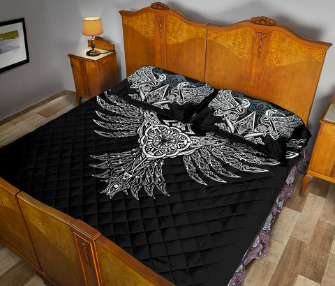 1stIceland Viking Quilt Bed Set, Raven Th00 - 1st Iceland