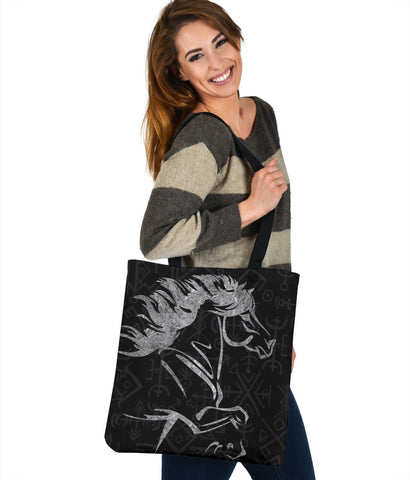 Image of 1stIceland Viking Tote Bag, Icelandic Horse Coat Of Arms K4 - 1st Iceland