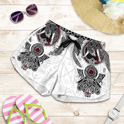 1stIceland Viking Shorts, Fenrir Skoll And Hati Valknut Tattoo K5 - 1st Iceland