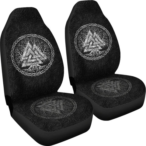 1stIceland Viking Car Seat Covers, Valknut Tree Of Life K7 - 1st Iceland