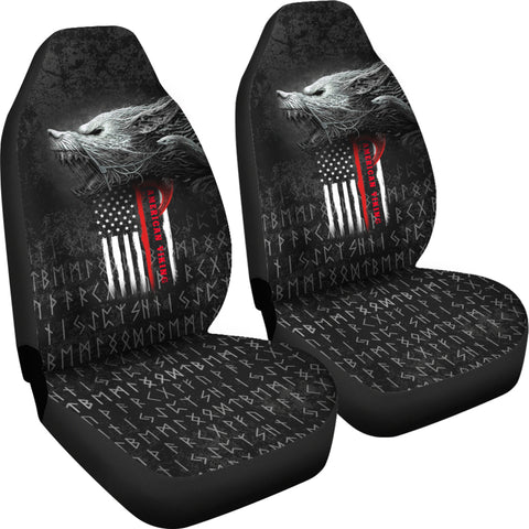 Image of 1stIceland American Viking Fenrir Car Seat Covers TH12 - 1st Iceland