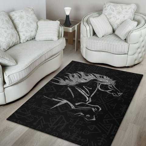 Image of 1stIceland Viking Area Rug, Icelandic Horse Coat Of Arms K4 - 1st Iceland