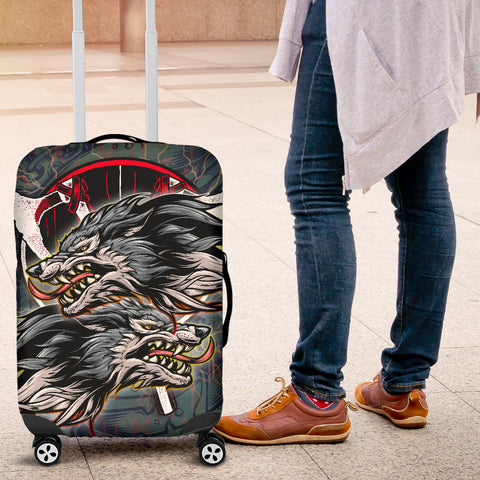 Image of 1stIceland The Viking Runes Luggage Covers Grey Wolf K13 - 1st Iceland