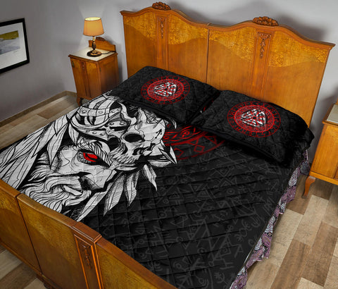 Image of 1stIceland Viking Odin And Raven Quilt Bed Set TH12