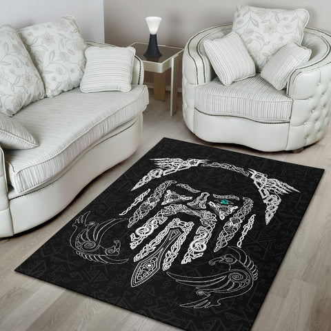 Image of 1stIceland Viking Area Rug, Odin's Eye with Raven K4