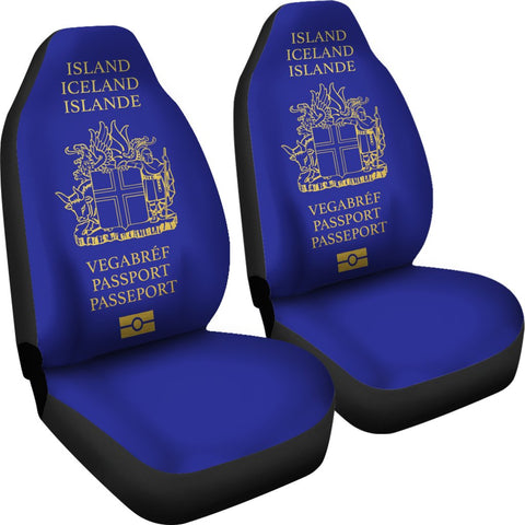 1stIceland Car Seat Covers, Iceland Passport BN01 - 1st Iceland