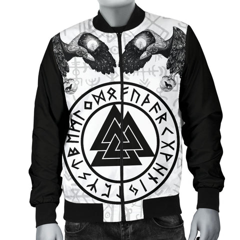 Image of 1stIceland Viking Bomber Jacket, Ravens Valknut Fenrirs TH00 - 1st Iceland