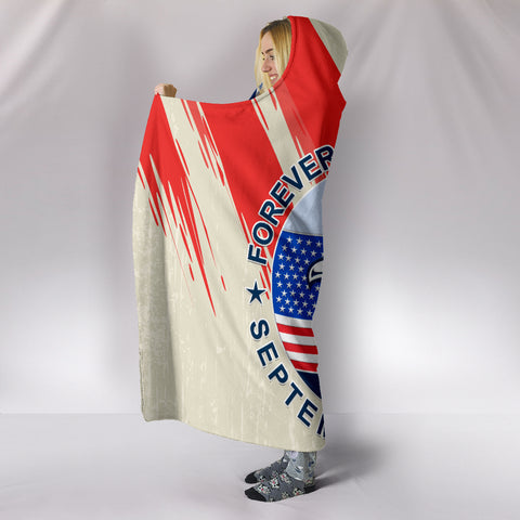 1stIceland American Firefighters Sacrifice 9.11.01 Hooded Blanket K8 - 1st Iceland