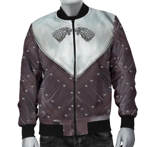 Image of 1sticeland Bomber Jacket for Men, 3D Arya Stark Armor All Over Print - 1st Iceland