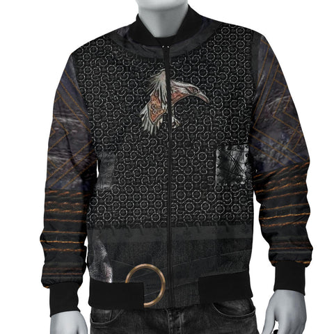 1stIceland Vikings Bomber Jacket for Men , New Raven 3D Armour Th00 - 1st Iceland