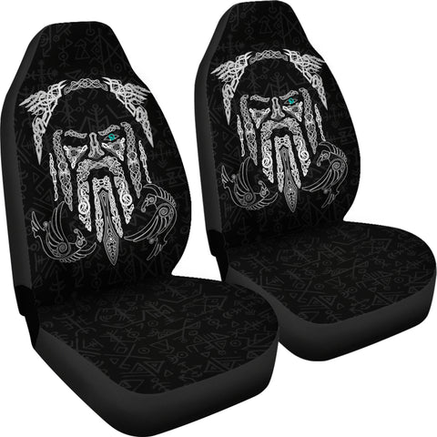 1stIceland Viking Car Seat Covers, Odin's Eye with Raven K4 - 1st Iceland