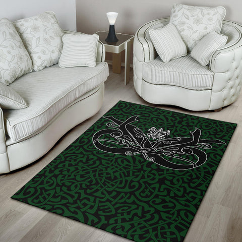 1stIceland Celtic Area Rug, Celtics Dragon Tattoo Th00 - Green - 1st Iceland