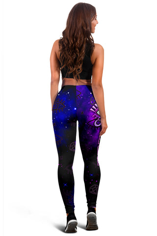 Image of (Custom Personalised) 1stIceland Evil Eye Women Leggings Simple Style - Black K8 - 1st Iceland