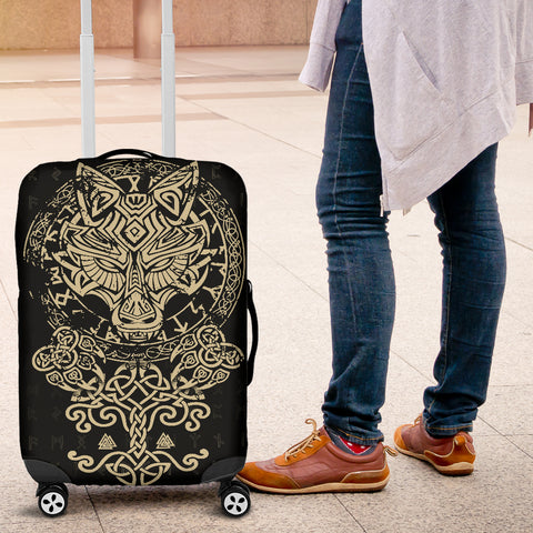 Image of 1stIceland Viking Wolf Fenrir Luggage Covers TH12 - 1st Iceland