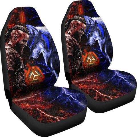 Image of 1stIceland Viking Car Seat Covers Ragnar and Wolf TH12 - 1st Iceland