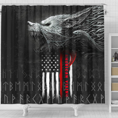 1stIceland American Viking Fenrir Shower Curtain TH12 - 1st Iceland