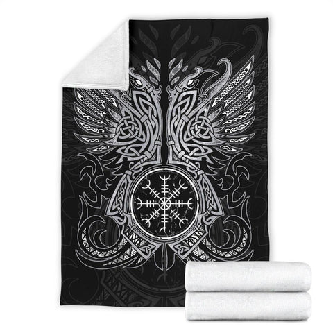 1stIceland Viking Premium Blanket, Odin's Ravens Helm Of Awe Th5 - 1st Iceland
