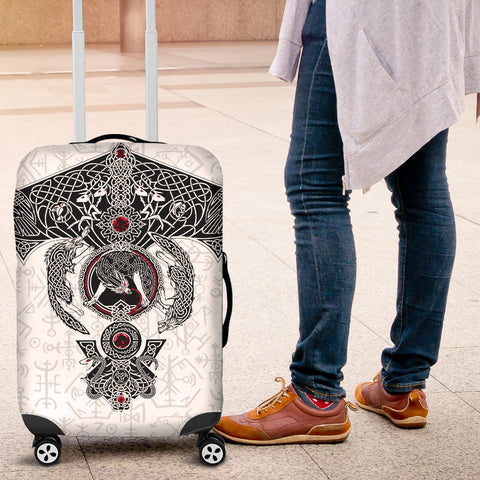 1stIceland Viking Luggage Cover, Fenrirs Skoll And Hati Ragnar Raven K5 - 1st Iceland