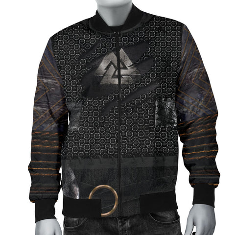 1stIceland Viking Bomber Jacket, New Valknut 3D Armour Men TH00 - 1st Iceland