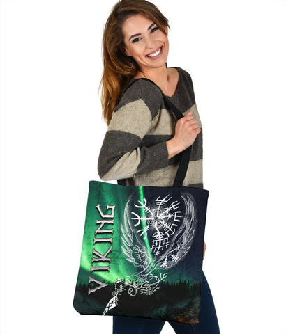 1stIceland Viking Tote Bag Northern Lights TH12 - 1st Iceland