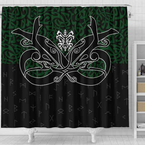 1stIceland Shower Curtain, Celtics Dragon Tattoo Th00 - 1st Iceland