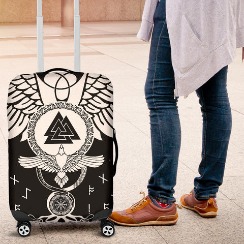 Image of 1stIceland Viking Luggage Covers, Flying Raven Tattoo And Valknut - 1st Iceland