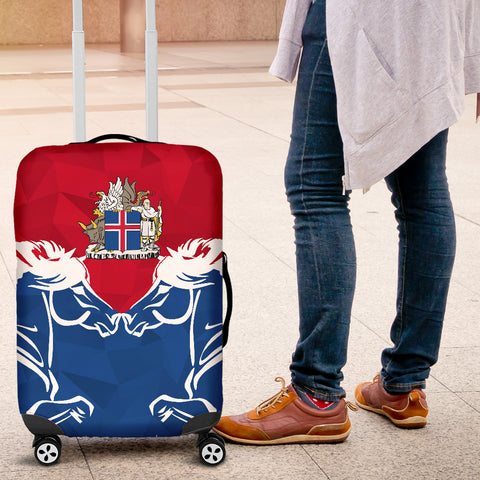 Image of 1stIceland Pullover Luggage Covers, Horse Coat Of Arms Couple Style K4 - 1st Iceland